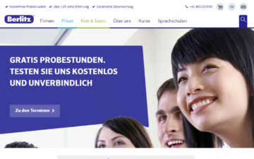 Screenshot Berlitz Schools of Languages
